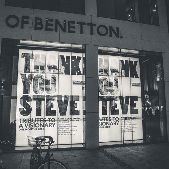 Benetton tribute to steve Jobs