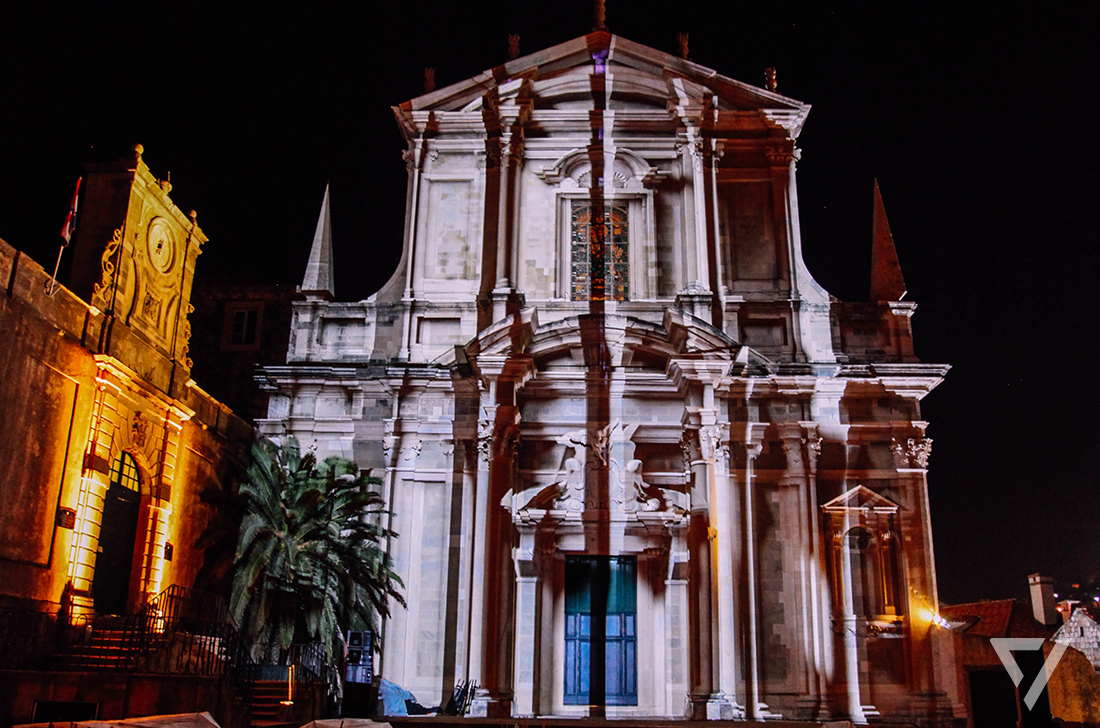 Mc-Donalds Dubrovnic Videomapping 3D Fassadenprojection mapping, video