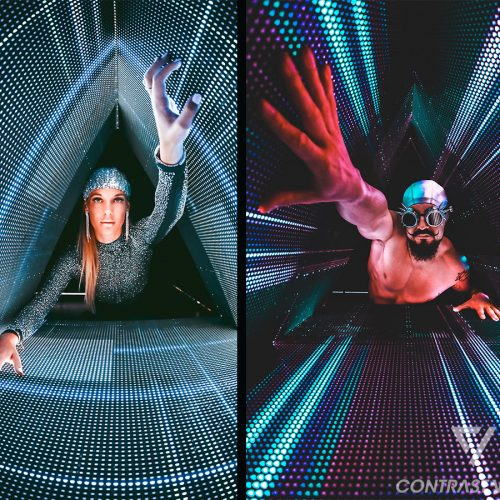 Fotoshooting mit Models im Dreieck