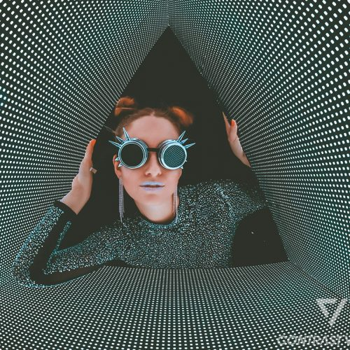 girl with glases in a futuristic environment