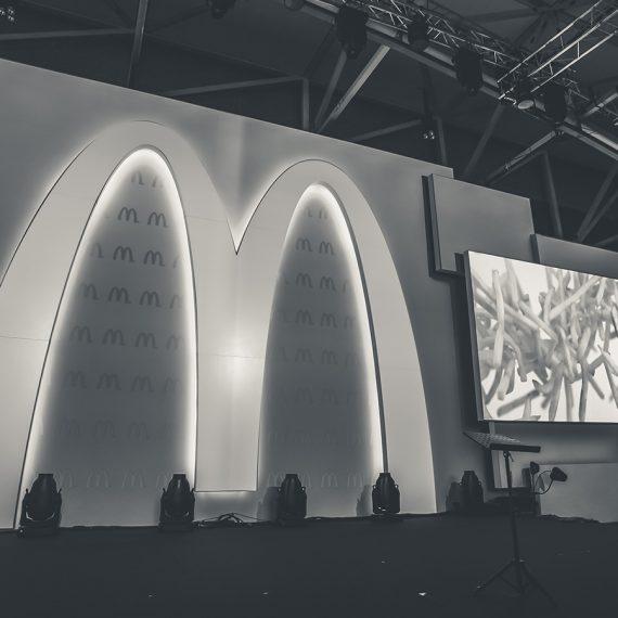 Mc Donalds Flagship store opening Frankfurt Stagedesign und Content Produktion