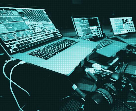 modul8, modul 8, visuals, laptop, set up